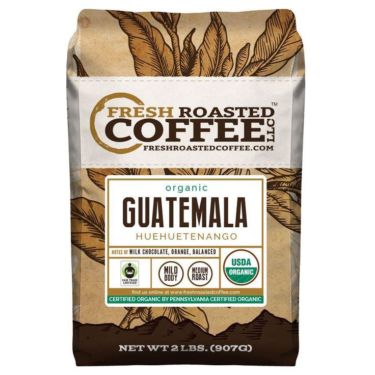 Organic Guatemala Huehuetenango Fair Trade Coffee, Whole Bean coffee, Fresh Roasted Coffee LLC (2 lb.)