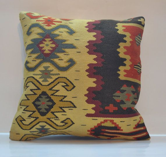 Hey, I found this really awesome Etsy listing at https://www.etsy.com/listing/178901594/kilim-pillow-cover-16x16-vintage