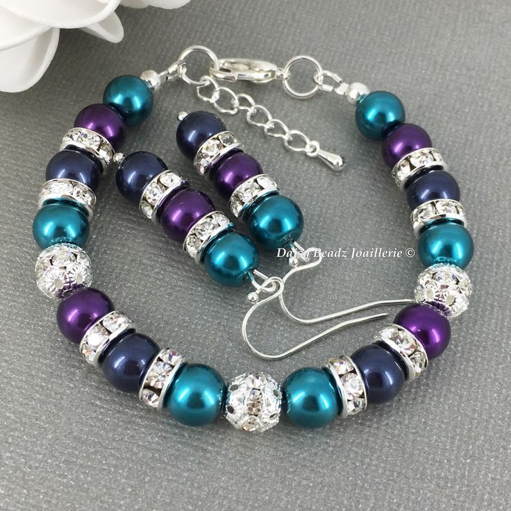 Blue, Purple and Teal Bracelet, Peacock, Wedding Jewelry, Teal Bracelet, Bridesmaid Bracelet, Bridesmaid Gifts, Pearl Bracelet, Wedding 2017 by DaisyBeadzJoaillerie on Etsy https://www.etsy.com/ca/listing/269722671/blue-purple-and-teal-bracelet-peacock