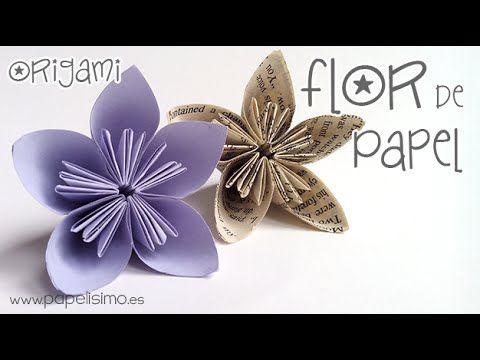 Cómo hacer flor de papel. Nivel: Fácil - YouTube