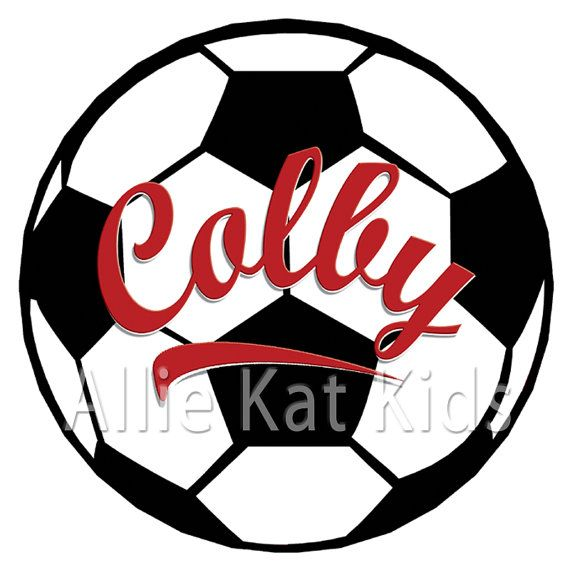 Soccer Ball Custom Colors Personalized Name Sign by AllieKatKids