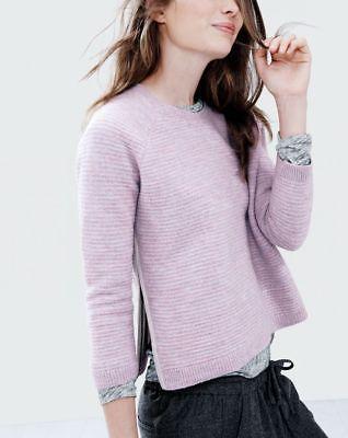 J-Crew-Lilac-Lavender-Boiled-Wool-Side-Zip-Sweater-100-Merino-Wool-Size-XS-118