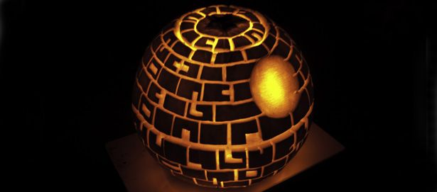 Death Star Pumpkin Carving. I would be the coolest mom in town if I could pull this off!