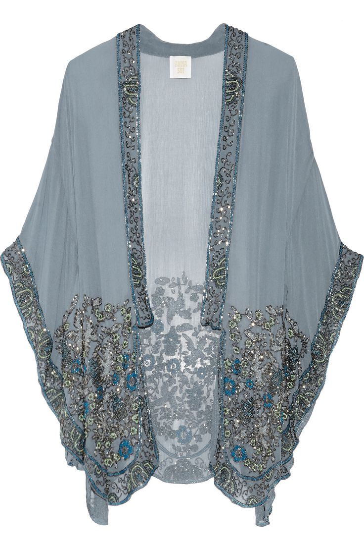 ANNA SUI Embellished silk-chiffon kimono jacket €1,095.46 http://www.net-a-porter.com/products/557275