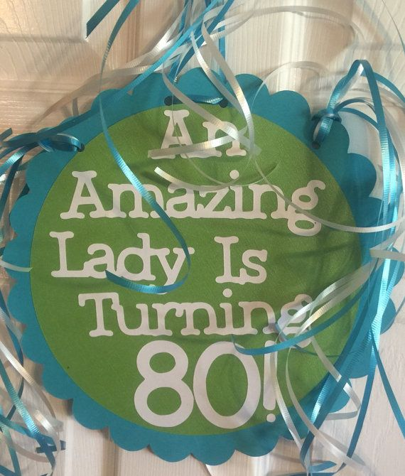 80th Birthday Decorations Giant Personalized Party by FromBeths