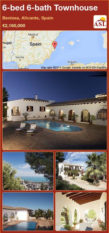 6-bed 6-bath Townhouse in Benissa, Alicante, Spain ►€2,160,000 #PropertyForSaleInSpain