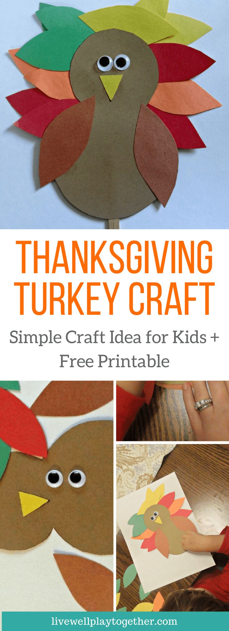 Easy Thanksgiving Turkey Craft for Kids Plus