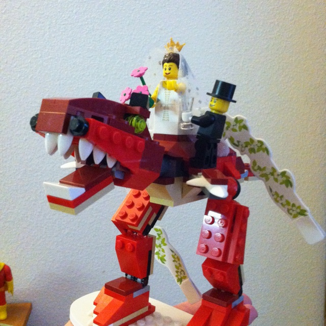 Lego T REX Wedding Cake Topper