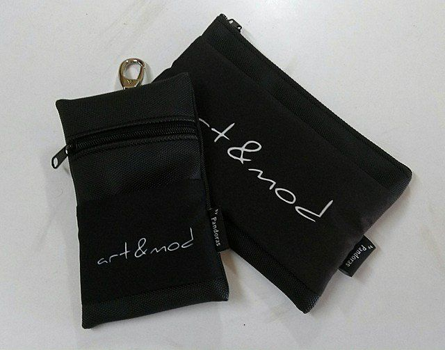 Black Silok pouch V1.5 and black Crypt pouch Art&Mod logo