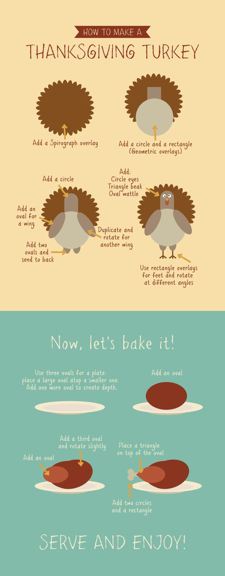 Have fun making your own Thanksgiving turkey with our graphic design tutorial.