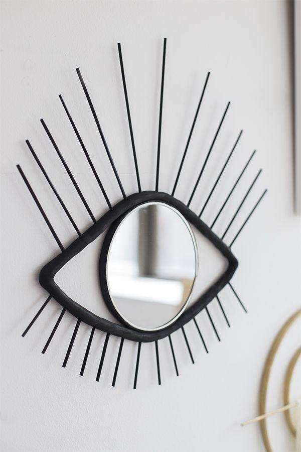 DIY ojo espejo decorativo para el muro