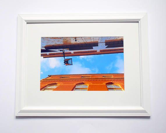 12x16 Framed Print Nottingham Roofs Byard Lane Skyline