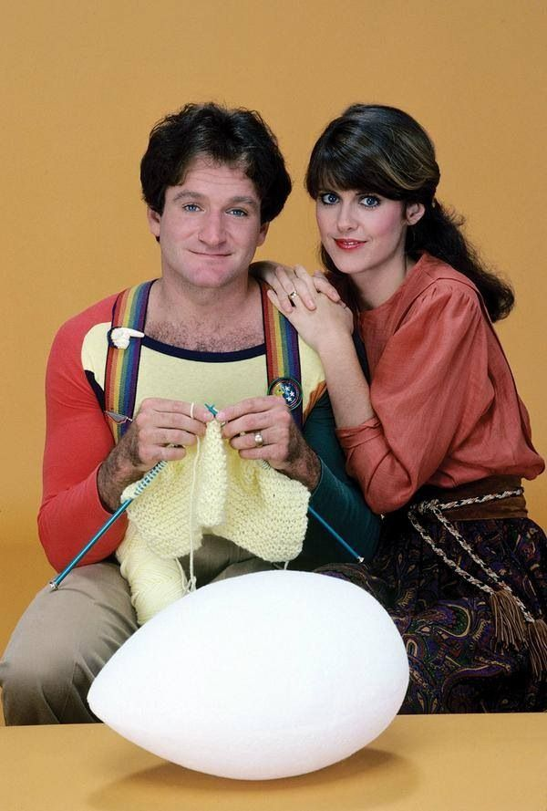 Mork knitting. RIP Robin - thank you for all the laughs and smiles.