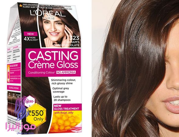 صبغة لوريال بني شكولاتة Shimmering Color Creme Treatment