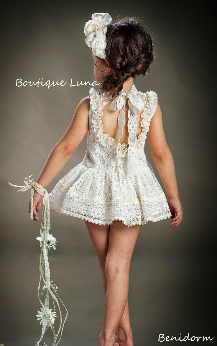 Marita Rial stunning lacy dress for girls.