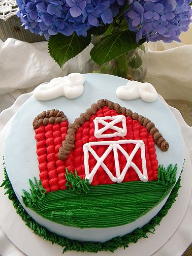 Barnyard birthday smash cake ~ My Sweet Things