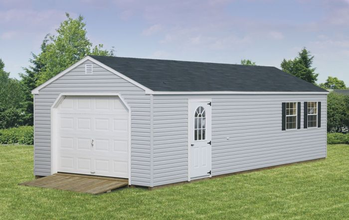 Amish Vinyl Garage Kit - choose size | Architecture | Garage kits