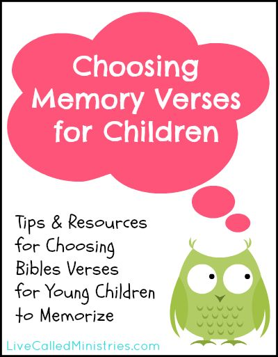 Great list of resources and suggestions! How to Choose Bible Verses for Young Children to Memorize {Truth for Tots}