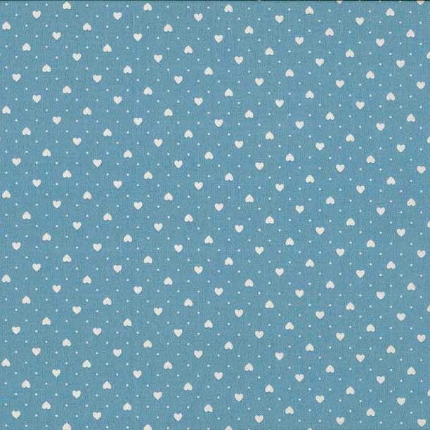 FQ0683 Small Hearts BLUE - Basics – Makower