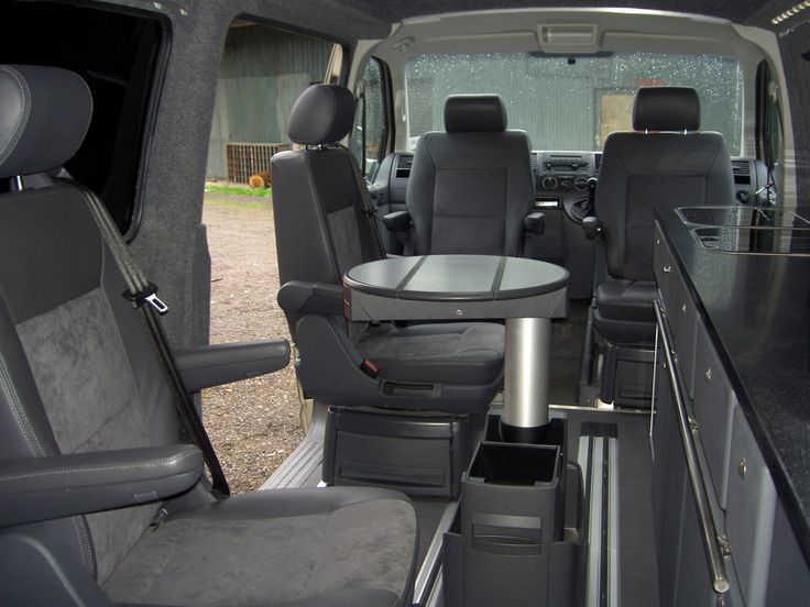 Camper conversion vw t5 forum and high tops on pinterest for Vw t4 interior designs