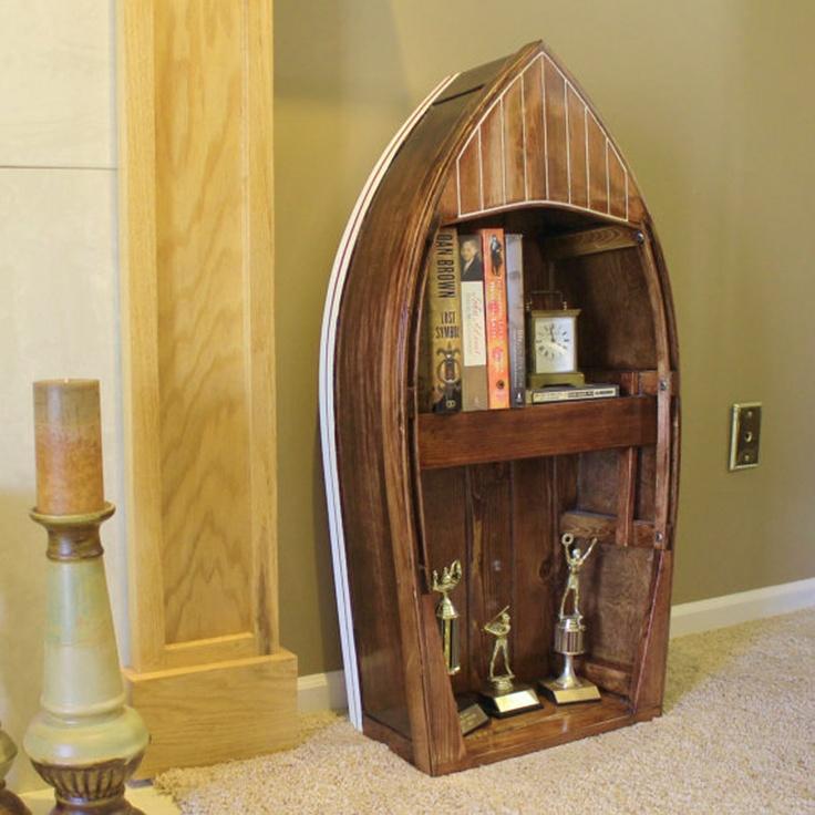 unique bookshelves | ... Amazing and Creative Bookshelves : Creative Bookshelves Boat Bookcase