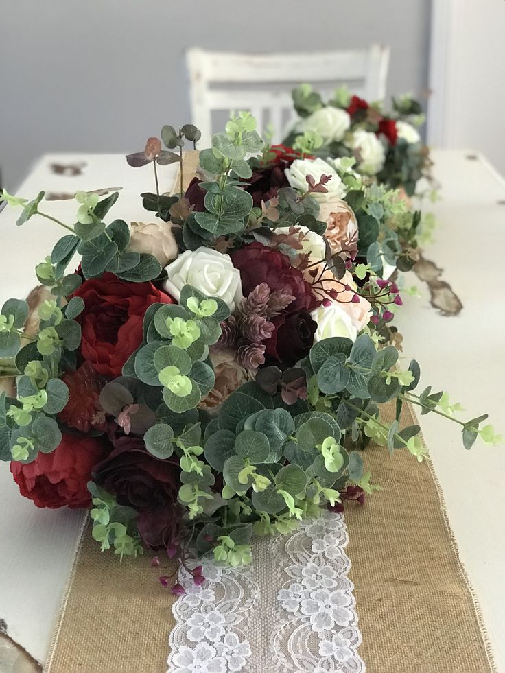 Bridal bouquet sets. Blush pink, plums and reds with a touch of rustic