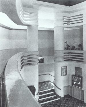 The Odeon cinema, Muswell Hill, London, which operates in Fortis Green Road, is a Grade II Listed Building, largely because of its fine streamline modern interior. Opened in September 1936, it is considered the finest Odeon designed by the architect George Coles.