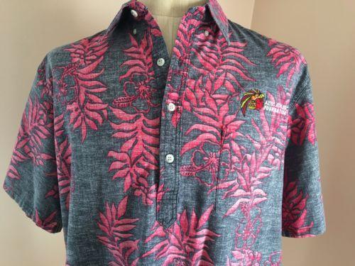 2XL-Hawaiian-Shirt-Go-Barefoot-Pink-Gray-Aztec-Summer-Beach-Vacation-USA-XXL-New