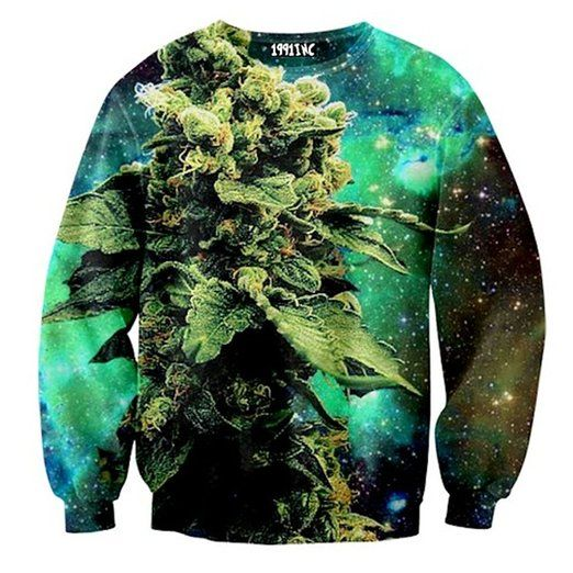 3d Print Animal Sweater Coral Print Weed Galaxy Sweatshirt