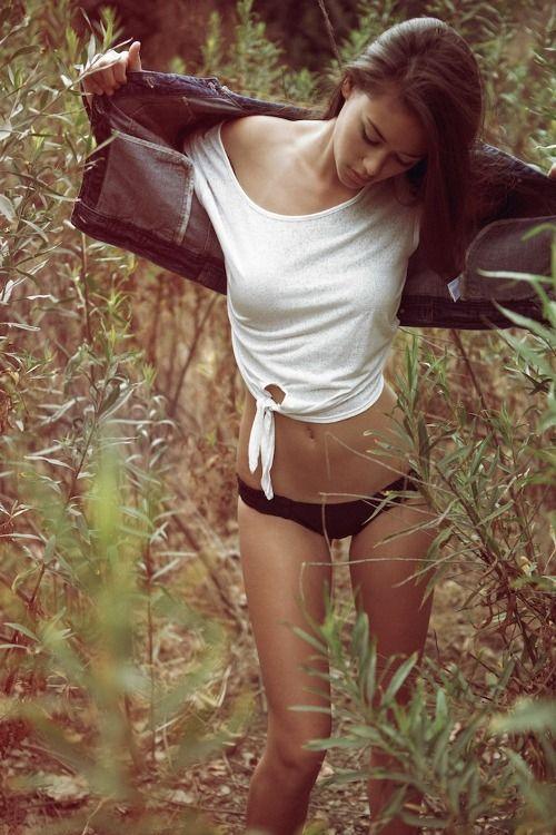 Sexy teens in woods