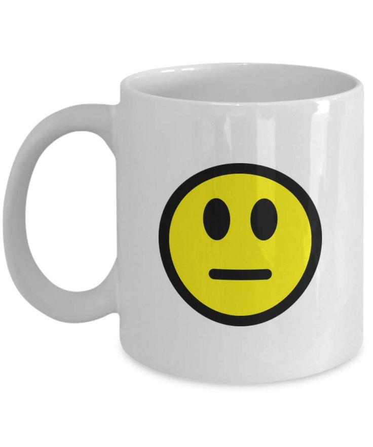 Meh Mugs, meh Coffee Mug, meh emoji coffee mug, feeling like you just don't care days meh Coffee Mug, feeling like you just don't care days by BearHugBoutique on Etsy