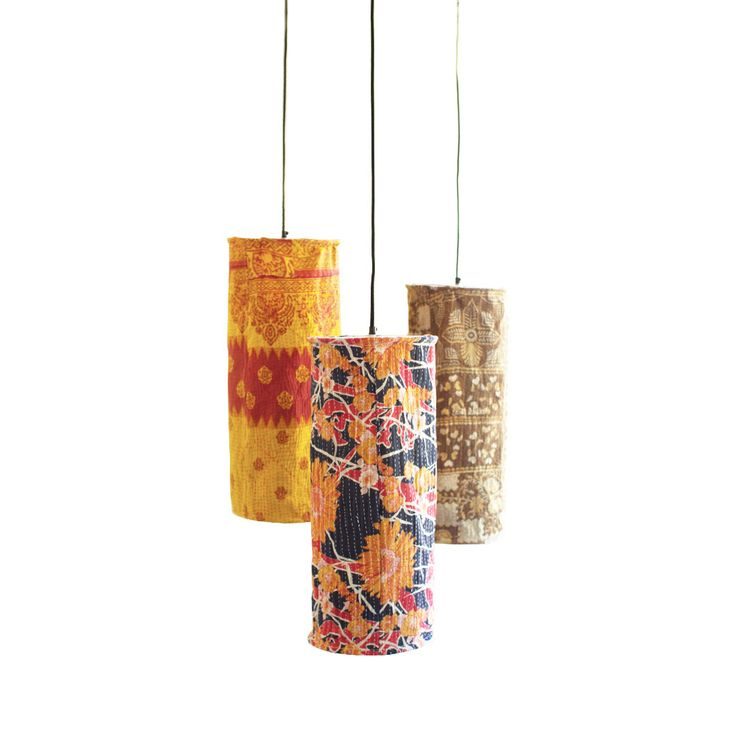 Zohra Fabric Pendant Lamps - Set of 3 - Unique Modern Furniture - Dot & Bo