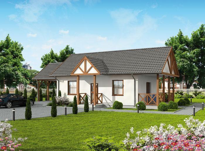 Projekt domu DOM PD5-43 - gotowy projekt domu
