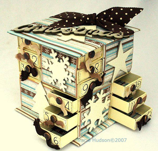 Vos boîtes d'allumettes pour Noel - 15 novembre 2011 - Scrappez avec Mamy Anick