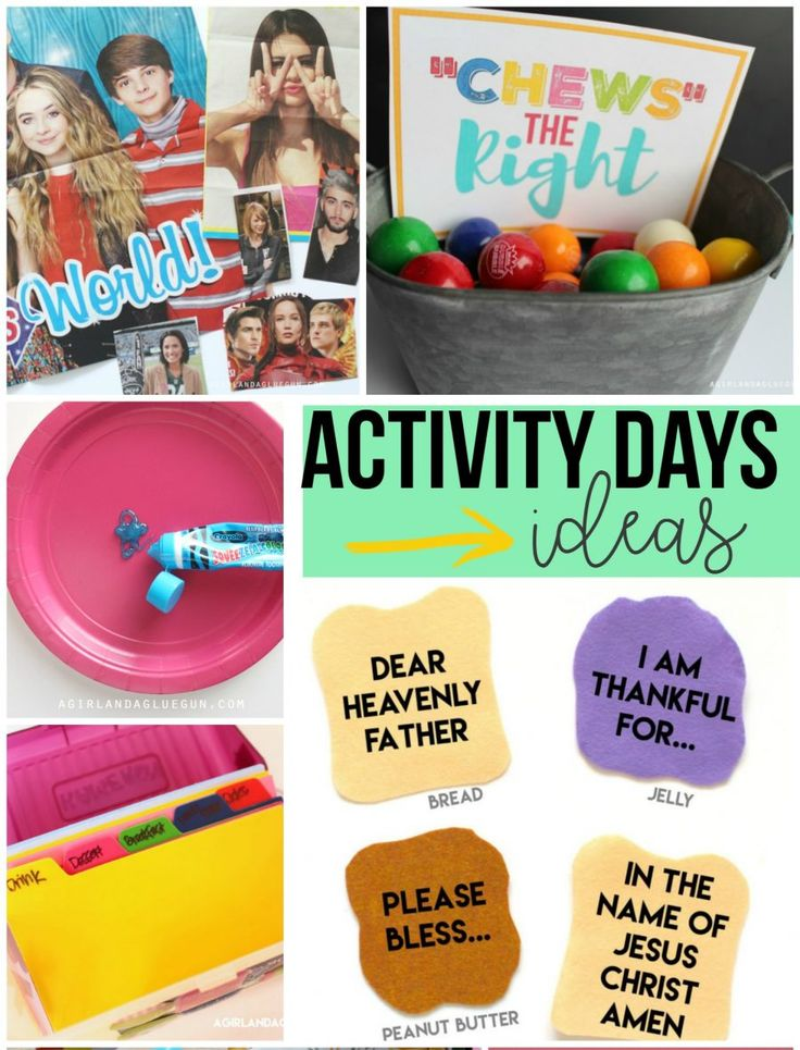 Activity days ideas!
