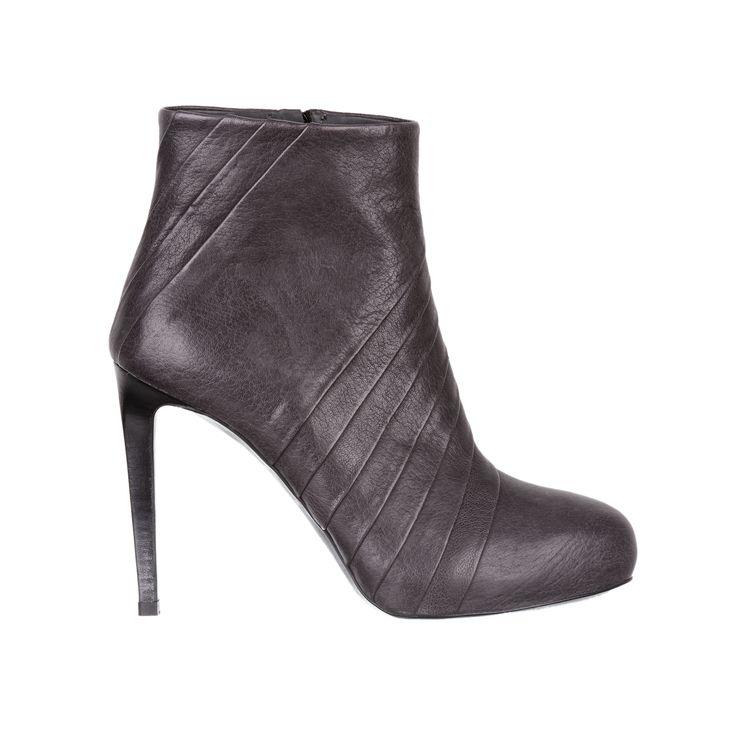 high heel leather boots - fiorifrancesi