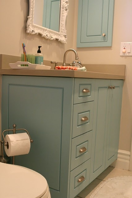 painted bathroom wall cabinets this would be a color to paint the cabinets 24344