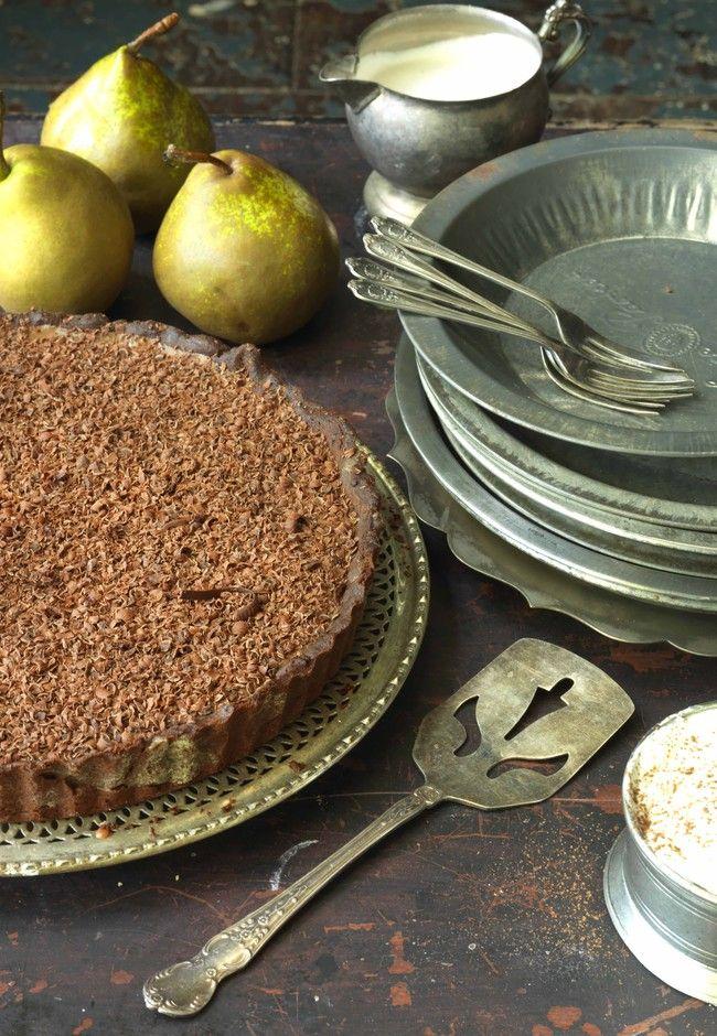 Scrumptious triple chocolate tart Photo Jane Ussher