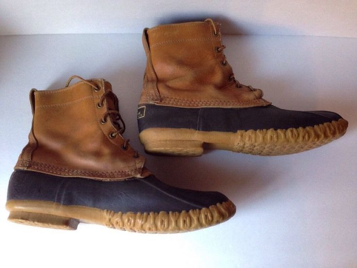 T hese LL Bean boots are in good pre-owned condition. They show light wear from use. Light wear to the rubber/leather/soles. | eBay!