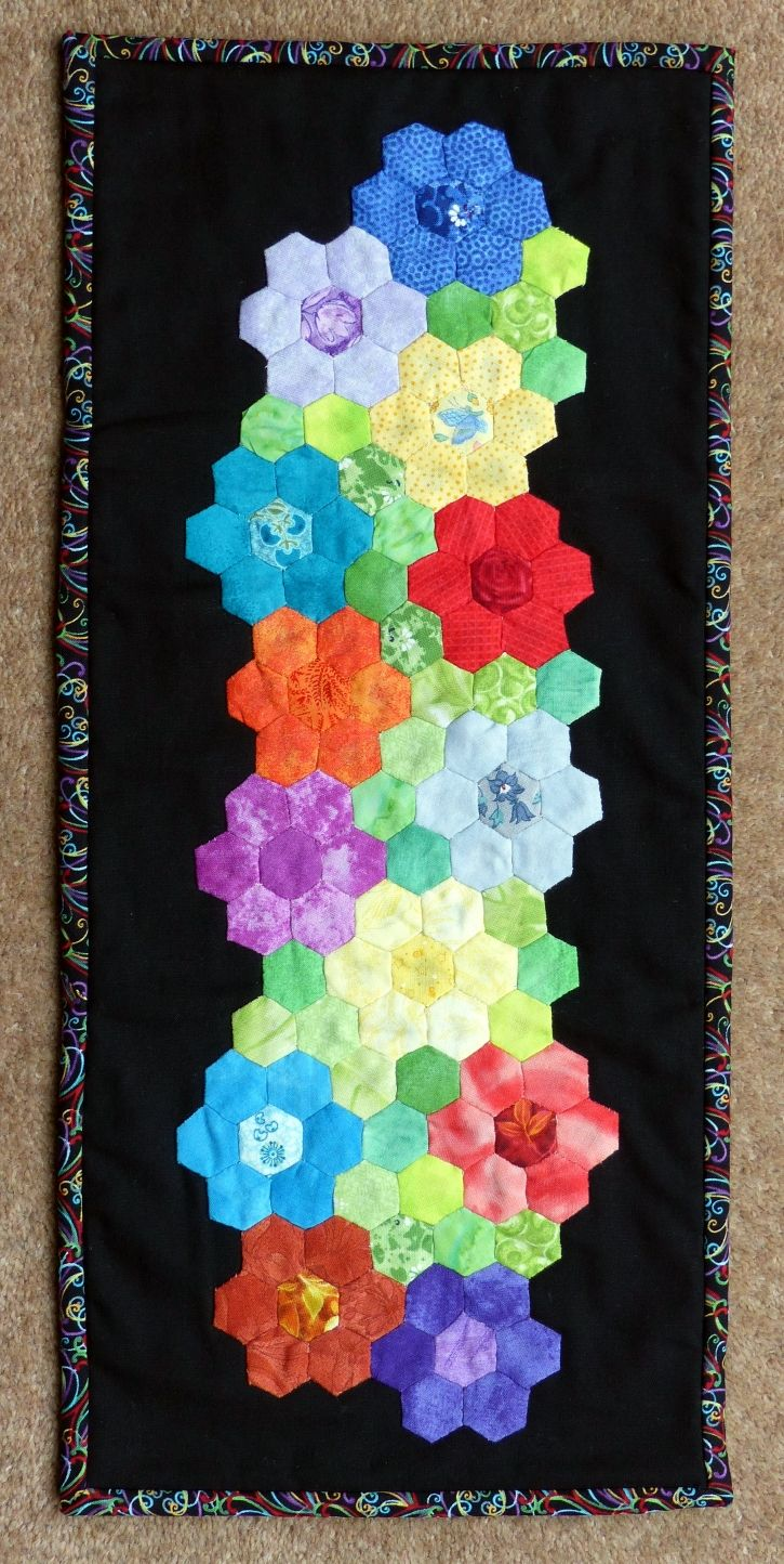 Piercing ideas for quilt backing   best Hexagon quilting images on Pinterest  Hexagon quilting