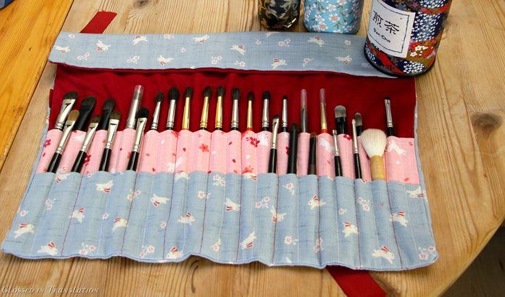 Diy Makeup Brush Roll Bag - Makeup Vidalondon