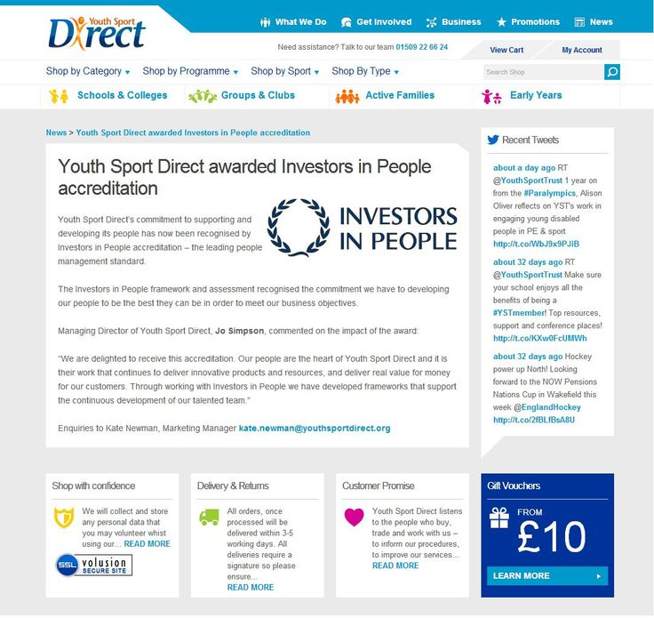 Youth Sport Direct achieves IIP accreditation