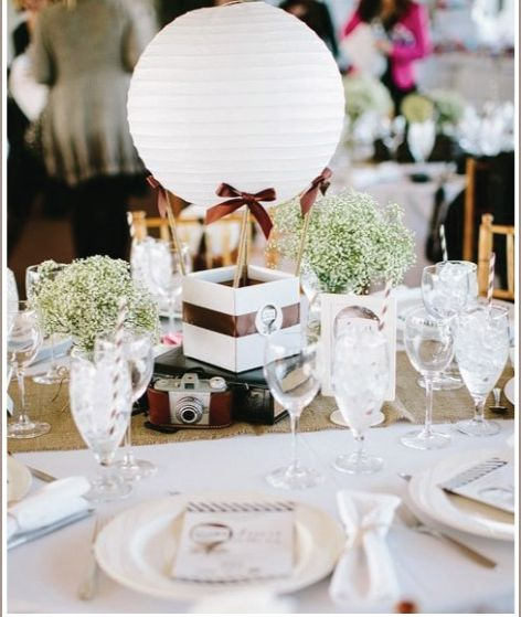 Photography: Bloombox.com | Wedding Hot Air Balloon Centerpiece - more at diyweddingsmag.com