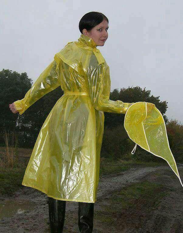 2019 in gelben auf Weg PVC Im Mantel matschigem OiPZkXuT