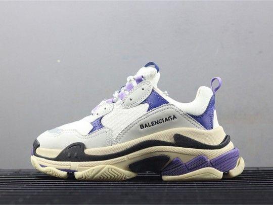 d2e62d6a63fe Balenciaga Triple S Mesh   Leather Sneaker Purple