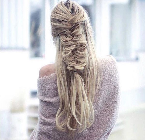 Messy buns have been a trend, now it's the time for messy braids. It just gives off a sense of femininity and innocence. Plus you have a reason to not comb your hair all the time.