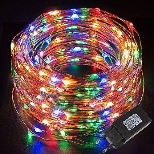 Cookey Ball String Lights - 80 Petite Ampoule 10m Batterie Action Globe Fairy Light pour Décoration Intérieure (Blanc Chaud)