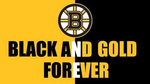 i bleed black and gold forever Bruins nation