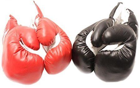 2 Pair Red Black 6oz Youth Boxing Gloves for Kids. 2 Pair Red Black 6oz Youth Boxing Gloves for Kids.