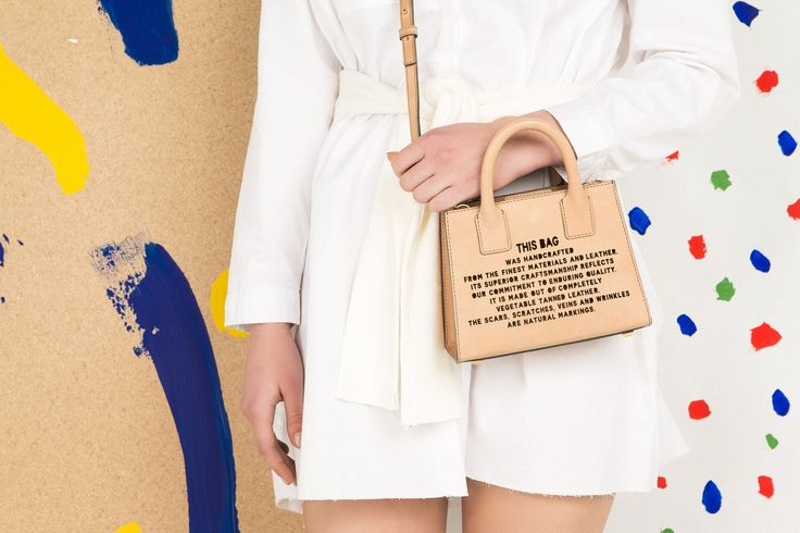 Marlow London's Mini Tote in Nude - part of the 'This Bag' collection. Marlow London is a luxury accessories brand founded by Central Saint Martins graduate Chloé Marlow. Campaign shot by @nastassjaanne Set designed by @amyjohnston